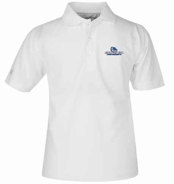 Gonzaga YOUTH Unisex Pique Polo Shirt (Color: White)