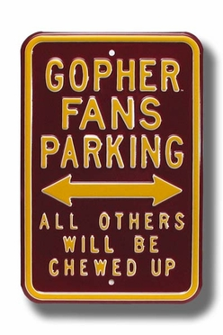 Gopher/Chewed Up Parking Sign