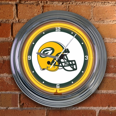 Green Bay Packers 15 Inch Neon Clock