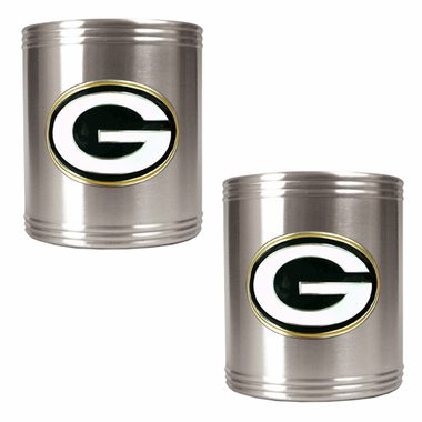 Green Bay Packers 2 Can Holder Set