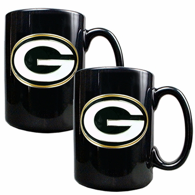 Green Bay Packers 2 Piece Coffee Mug Set