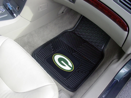 Green Bay Packers 2 Piece Heavy Duty Vinyl Car Mats