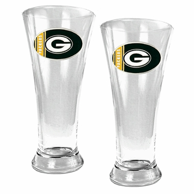 Green Bay Packers 2 Piece Pilsner Glass Set