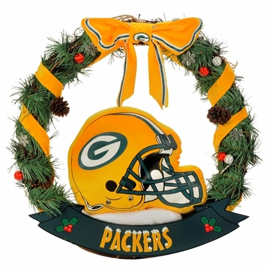 "Green Bay Packers 20"" Helmet Door Wreath"