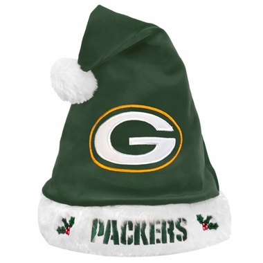 Green Bay Packers 2012 Team Logo Plush Santa Hat