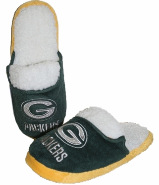 Green Bay Packers 2012 Womens Team Color Sherpa Glitter Slippers