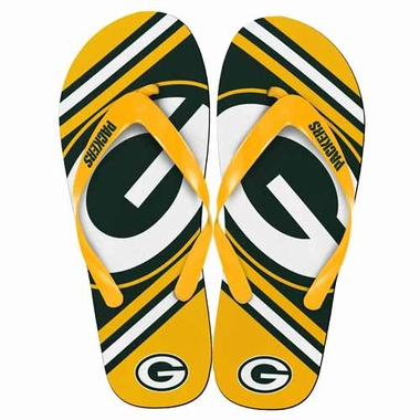 Green Bay Packers 2013 Unisex Big Logo Flip Flops
