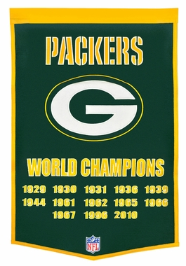"Green Bay Packers 24""x36"" Dynasty Wool Banner"