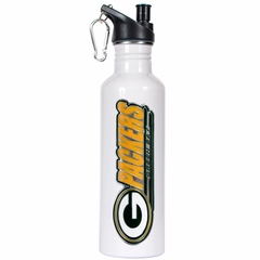 Green Bay Packers 26oz Stainless Steel Water Bottle (White)