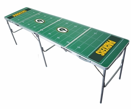 Green Bay Packers 2x8 Tailgate Table