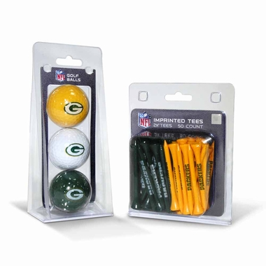 Green Bay Packers 3 Glaf Balls and 50 Tees