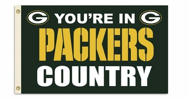 Green Bay Packers 3' x 5' Flag (Country) (F)