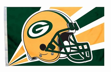 Green Bay Packers 3'x5' Helmet Design Flag