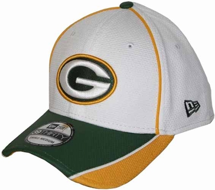 Green Bay Packers 39THIRTY Abrasion Plus Fitted Hat - White