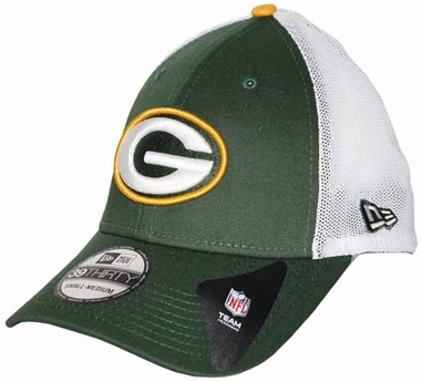 Green Bay Packers 39THIRTY Double Up Stretch Fitted Hat