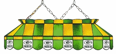 Green Bay Packers 40 Inch Rectangular Stained Glass Billiard Light