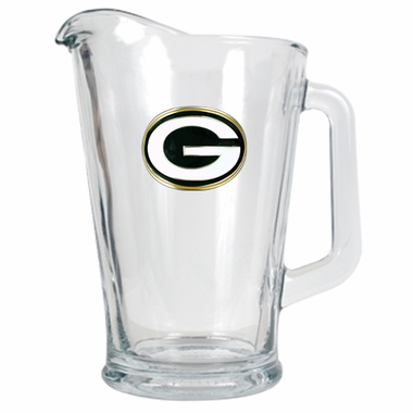 Green Bay Packers 60 oz Glass Pitcher