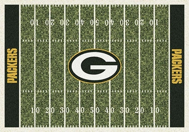 "Green Bay Packers 7'8"" x 10'9"" Premium Field Rug"