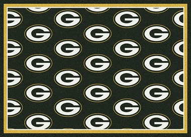 "Green Bay Packers 7'8 x 10'9"" Premium Pattern Rug"