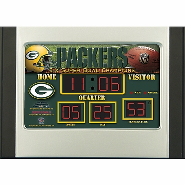 Green Bay Packers Alarm Clock Desk Scoreboard