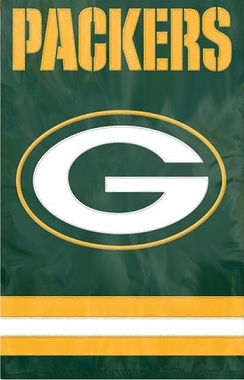 Green Bay Packers Applique Banner Flag