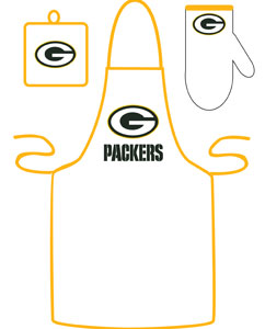 Green Bay Packers Apron and Mitt Set