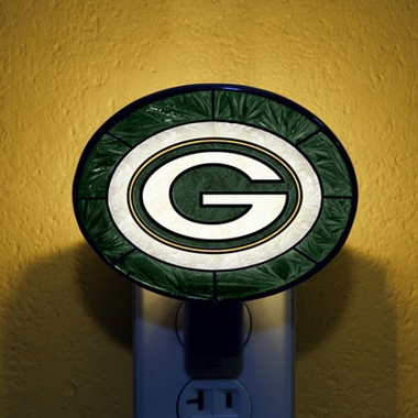 Green Bay Packers Art Glass Night Light