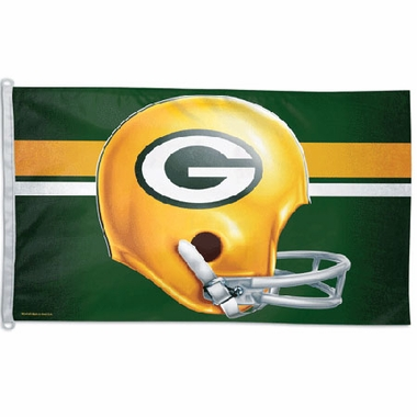Green Bay Packers Big 3x5 Flag (Throwback)