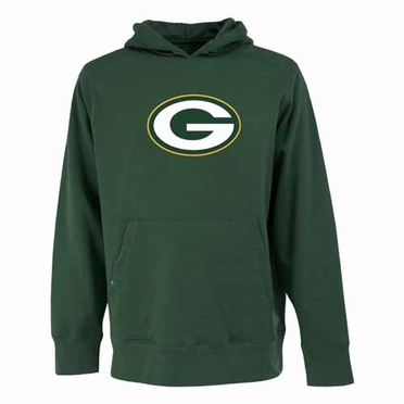 Green Bay Packers Big Logo Mens Signature Hooded Sweatshirt (Team Color: Green)
