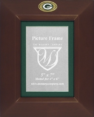 Green Bay Packers BROWN Portrait Picture Frame