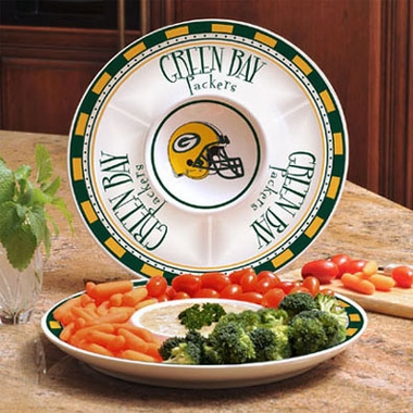 Green Bay Packers Ceramic Chip and Dip Plate