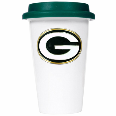 Green Bay Packers Ceramic Travel Cup (Team Color Lid)