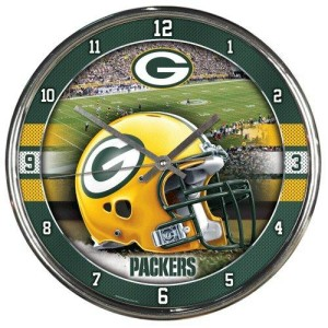 Green Bay Packers Chrome Clock
