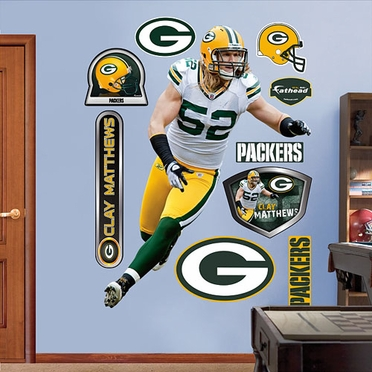 Green Bay Packers Clay Matthews � Fathead Wall Graphic