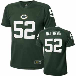 Green Bay Packers Clay Matthews Youth Performance T-shirt - Medium
