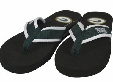 Green Bay Packers Contoured Flip Flop Sandals