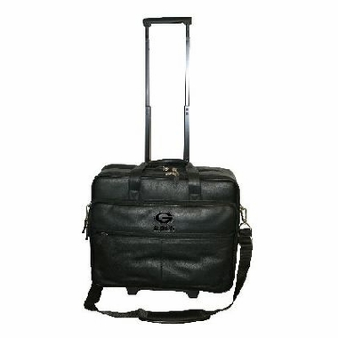 Green Bay Packers Debossed Black Leather Terminal Bag