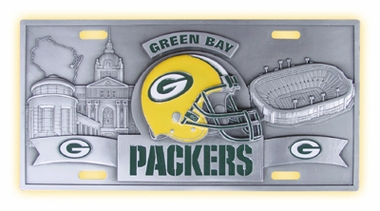 Green Bay Packers Deluxe Collector's License Plate