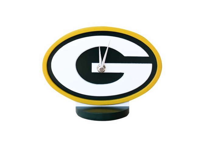 Green Bay Packers Desk Logo Clock
