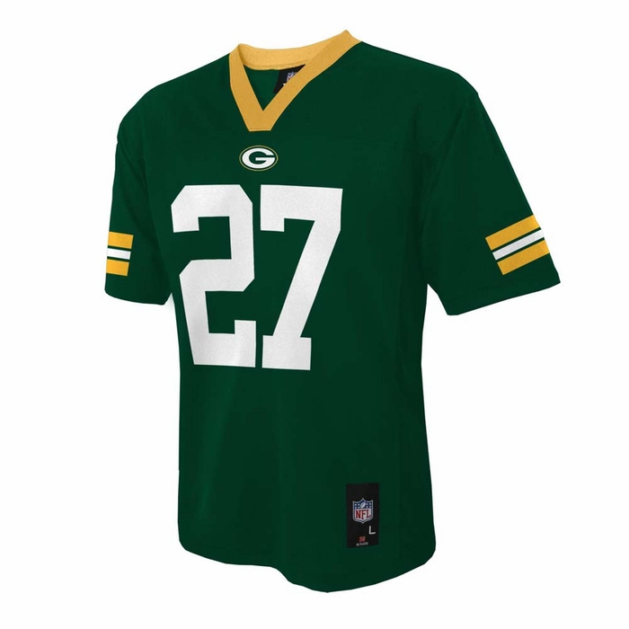 Youth Green Bay Packers 27 Eddie Lacy Grey Vapor Elite Jersey