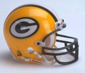 Green Bay Packers Football Helmet - Mini Replica