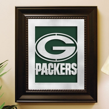 Green Bay Packers Framed Laser Cut Metal Wall Art