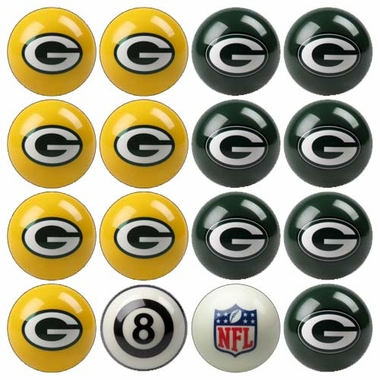 Green Bay Packers Home and Away Complete Billiard Ball Set