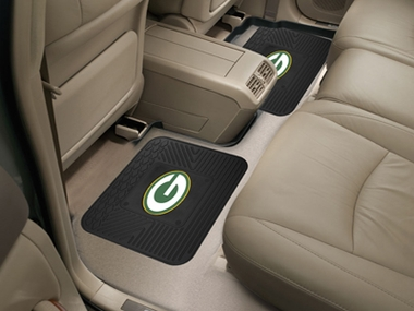 Green Bay Packers SET OF 2 Heavy Duty Vinyl Rear Car Mats