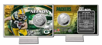 Green Bay Packers Jordy Nelson Silver Coin Card