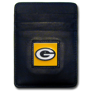 Green Bay Packers Leather Money Clip (F)