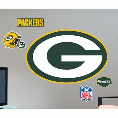 Green Bay Packers Logo Fathead Wall Graphic