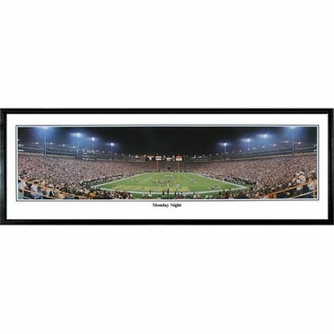 Green Bay Packers Monday Night Framed Panoramic Print