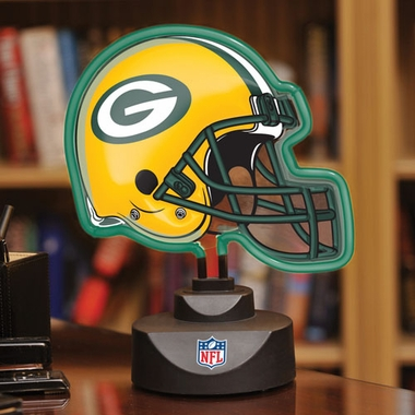 Green Bay Packers Neon Display Helmet