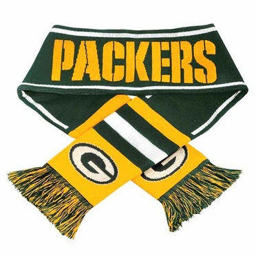 Green Bay Packers NFL 2013 Team Wordmark Knit Scarf
